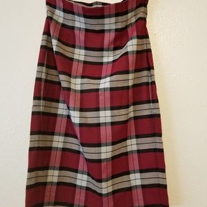 Venus High Waisted Plaid Skirt Size 4
